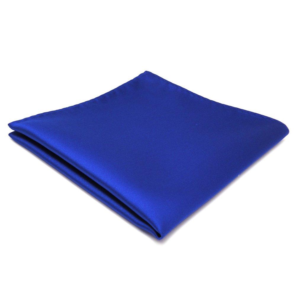 schönes Einstecktuch blau marine royal einfarbig - Tuch Polyester