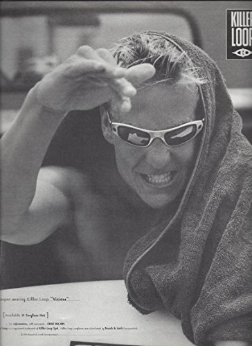 PRINT AD For 1996 Killer Loop Vicious By Bausch & Lomb - Sunglasses Killer Loop