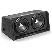 JL Audio CP210-W0v3 Dual 10 10W0v3-4 Loaded Ported Enclosure with Gray Carpet Finish