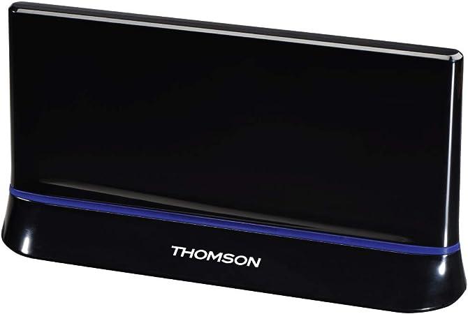 Thomson Antena DE Habitación ANT1538 - Antena de TV/Radio HDTV / 3D DVB-T/DVB-T2 Activa con Amplificador de señal de Rendimiento 45