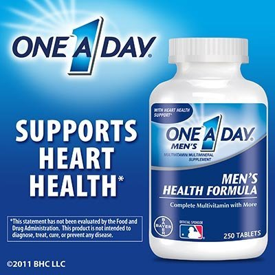 One A Day Men's Health Formula, 250 Tablets (One A Day Bayer)