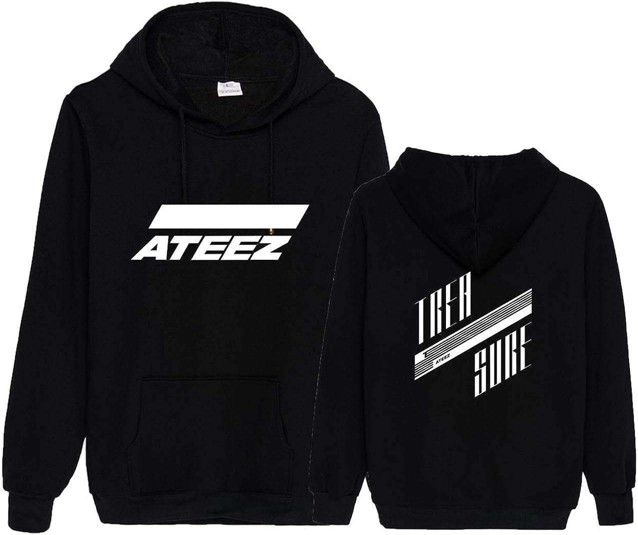 CHAIRAY Kpop ATEEZ Album Treasure Hoodie Wooyoung San Mingi Yeosang Pullover Hooded Sweater