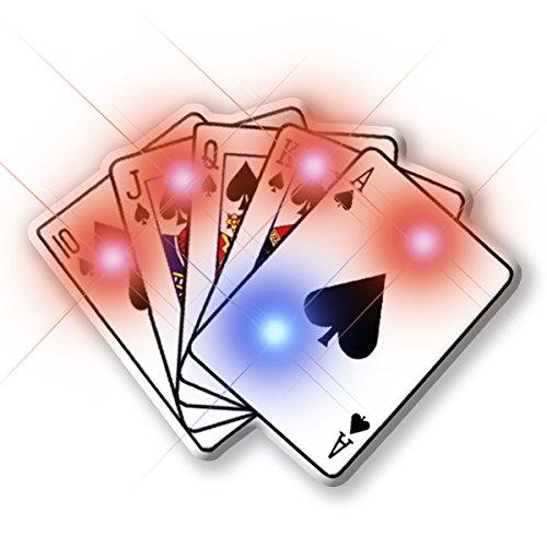 Light Up Royal Flush Poker Flashing Blinking LED Body Light Lapel Pins (Casino Pin)