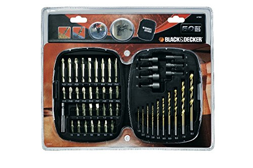 BLACK+DECKER Black + Decker A7093 Accessory Coffret De 50 Embouts De Vissage Orange