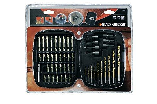 BLACK+DECKER Black + Decker A7093Accessory Coffret De 50Embouts De Vissage Orange
