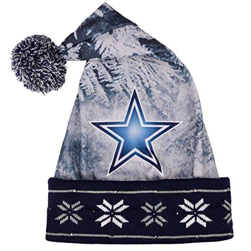 Dallas Cowboys Christmas Hat.Dallas Cowboys Light Up Santa Hat Import It All