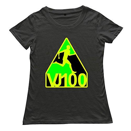 Goldfish Women's Funny Quotes Short Sleeve Vjbolt100 T-Shirt Black US Size XXL