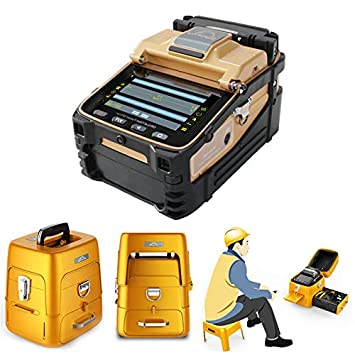 D YEDEMC SM MM Automatic FTTH Fiber Optical Welding Splicing Machine Optical Fiber Fusion Splicer Latest Version Ai-8C