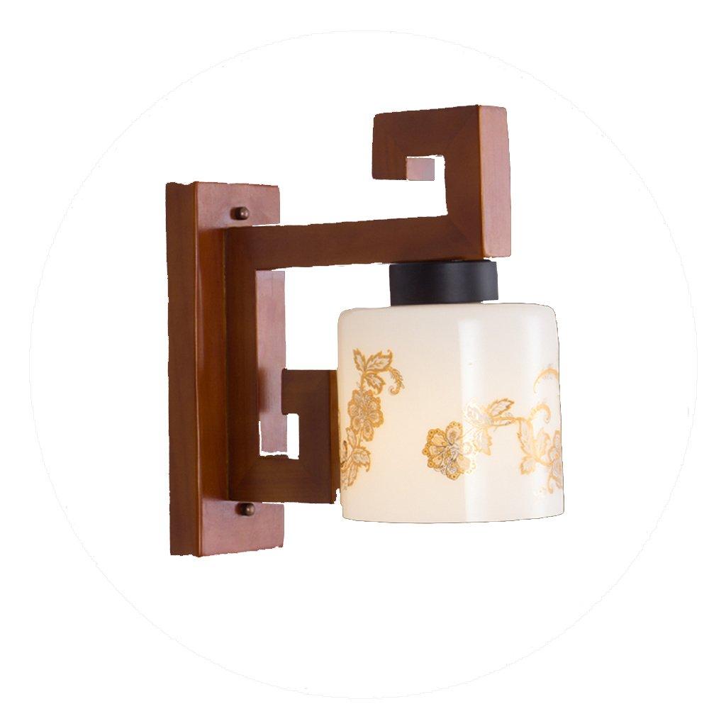 Guo lampade da parete semplice corridoio moderno nuova lampada da parete cinese lampada da parete in legno massello creativo soggiorno ristorante classica lampada da parete