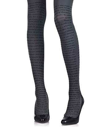 Amazoncom Love Text Printed Tights For Women Grey Opaque 120