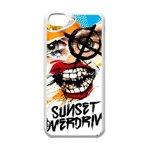 Sunset Overdrive 15 coque iPhone 5c cellulaire cas coque de téléphone cas blanche couverture de téléphone portable EEECBCAAN05820