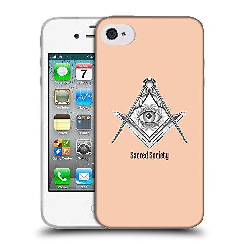 GoGoMobile Coque de Protection TPU Silicone Case pour // Q09630604 Carré maçonnique 2 Abricot // Apple iPhone 4 4S 4G