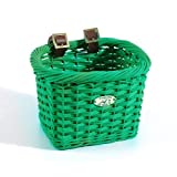 Nantucket Bike Basket Co Gull Collection Rectangle Child Bike Basket (Green)