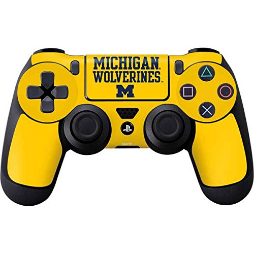Skinit Michigan Wolverines PS4 Controller Skin - Officially Licensed University of Michigan Playstation 4 Wrap - Thin, Durable 3M Vinyl ()