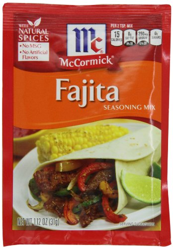 Mccormick Fajitas Seasoning, 1.12-Ounce (Pack of 12)
