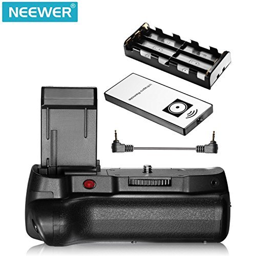 Neewer Infrared Remote Control Vertical Battery Grip Work with LP-E10 Battery for Canon 1100D 1200D 1300D/ Rebel T3 T5 T6 SLR Digital Camera