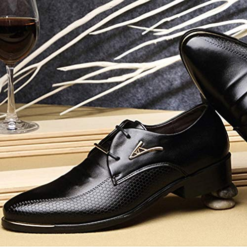 Appuntito Mens Casual Pizzo Oxfords in Pelle Maschio Abito Nero Up Scarpe Moda Scarpe Scarpe Business ItqIr8