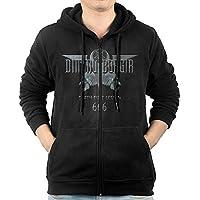GHGH Men's Dimmu Borgir Full Zip Hoodies Jackets Black