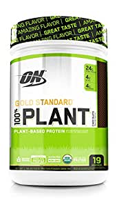 Optimum Nutrition Gold Standard 100% Organic Plant Based Vegan Protein Powder, Complete Amino Acid Profile, Chocolate, 19 Servings