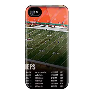 New Tpu Hard Case Premium Iphone 4/4s Skin Case Cover(kansas City Chiefs)