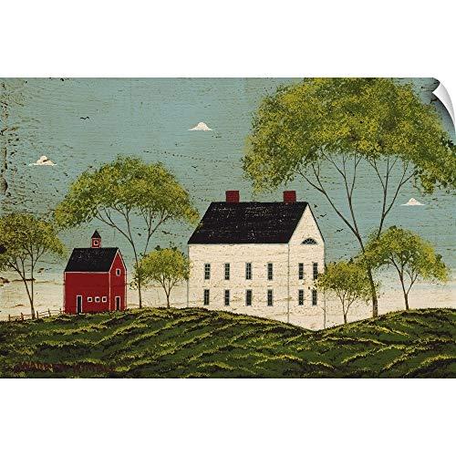 CANVAS ON DEMAND House with Dark Blue Sky Wall Peel Art Print, 36
