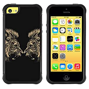 Jordan Colourful Shop@ Lion Angry Roar Fight Boxing Champion Rugged hybrid Protection Impact Case Cover For iphone 5C CASE Cover ,iphone 5C case,iphone5C cover ,Cases for iphone 5C
