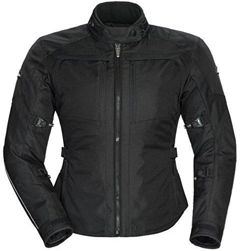 TourMaster Women's Pivot Textile Touring Motorcycle Jacket (Black, Small)