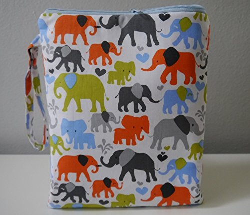 Cloth Diaper Wet Dry Bag Elephants by Emmi & Eli Baby Boutique