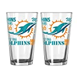 NFL Miami Dolphins Spirit Pint, 16-ounce, 2-Pack