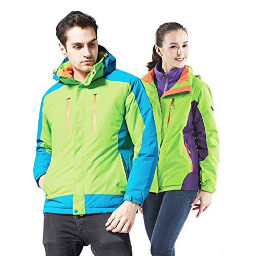 Heated Jacket Women,Waterproof Jacket with New Heating System,Auto-heated Winter Coat For Girls Woman Hooded Windbreaker (XL, Green) by redder (Image #4)