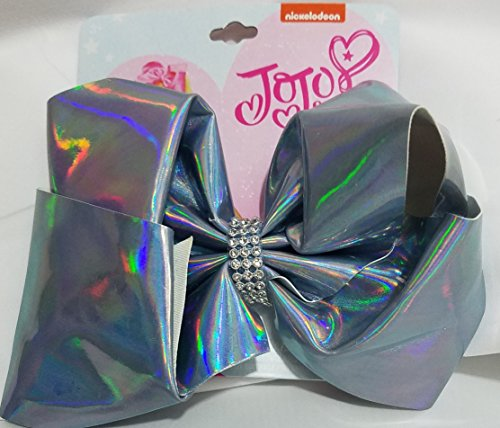 JoJo Siwa Blue Iridescent Large Signature Hair Bow - Iridescent Bow