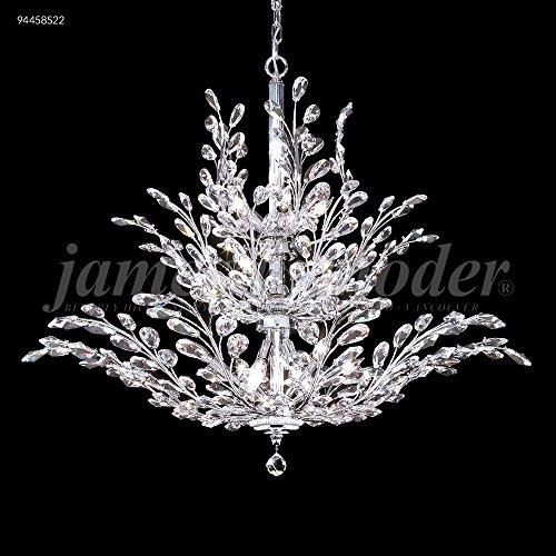 James R Moder 94458S2G Florale 18 Light Crystal Chandelier Silver Imperial Crystal Green