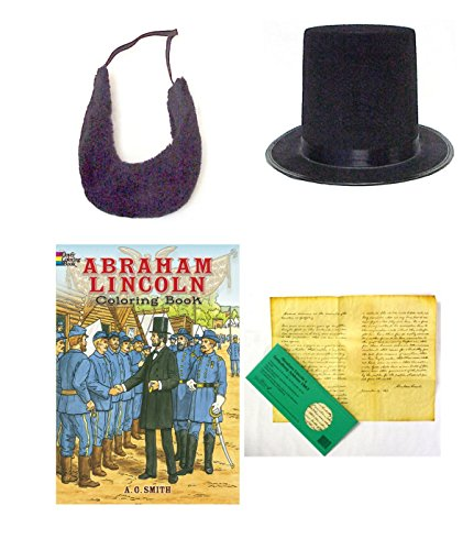 Creative Kids Toys Abraham Lincoln Gettysburg Address Pretend Play Costume Roleplay Set (Abe Lincoln, Basic) -