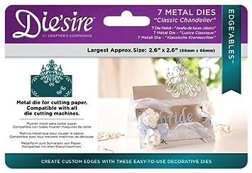 Diesire Edgeables Metal Dies 7//Pkg-Classic Chandelier