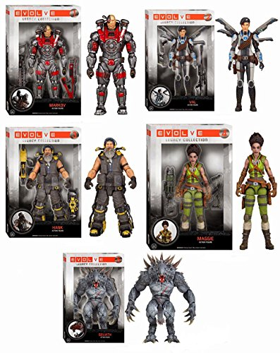 - Evolve Goliath Maggie Hank Val Markov Legacy Collection Action Figures Set of 5