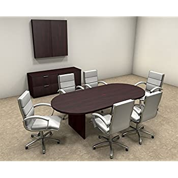 Amazoncom Modern Racetrack Feet Conference Table OTSULC - 8 foot conference room table