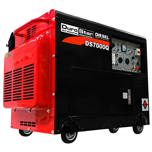 DuroStar DS7000Q Portable Diesel Generator, Black/Red