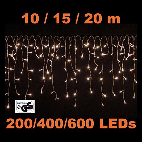 VOLTRONIC® 200 400 600 LED Lichterkette Eisregen, Warm Weiss / Kalt Weiss,  Innen Und Außen, Dekra GS Adapter: Amazon.de: Beleuchtung