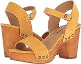 Lucky Brand Women's Trisa Heeled Sandal, Saffron, 5.5 M US