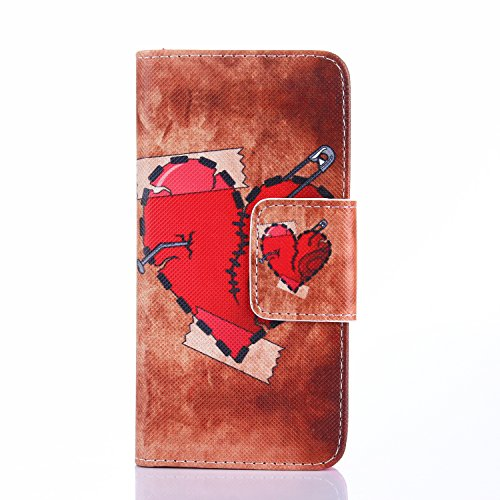 Galaxy S6 Egde Pattern Case,S6 Edge Flip Cover,Hankuke Art Graphic Special Slim PU Leather Magnet Flip Wallet Housing with Kickstand and Card Holder Slot for Samsung Galaxy S6 Egde (love) (Full Housing Xperia P compare prices)