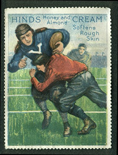 Hinds Honey & Almond Cream Soften Rough Skin cinderella stamp Yale football 1910