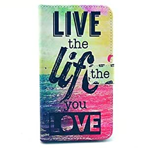 "LIMME ""Live The Life You Love"" Words Pattern PU Leather Full Body Case for Samsung Note3 N9000"