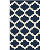 Safavieh Montauk Collection MTK723H Navy and Ivory Area Rug (26 x 4)