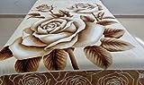 Vivalon Brown Roses (BM146) Thick Mink Plush Korean Style Queen Size Blanket - By Solaron