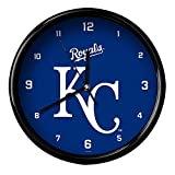 MLB Kansas City Royals Official Black Rim Basic Clock, Multicolor, One Size