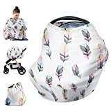 Idefair(TM) Nursing Cover,Infant Breastfeeding Scarf Baby Car Seat Canopy Multi-Use,Lightweight and Breathable for Stroller Shopping Cart with Carry Bag