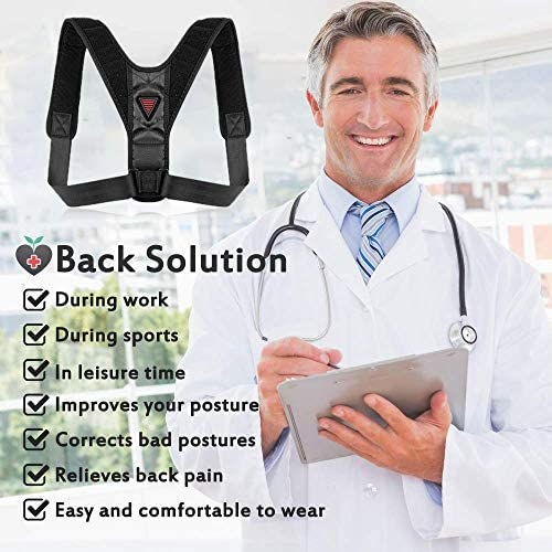 Posture Corrector for Men and Women Upper Back Brace for Clavicle Support Adjustable Back
