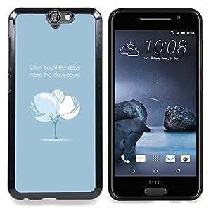 Queen Pattern - FOR HTC ONE A9 - Tree Blue Baby Text Inspiring Message - Cubierta del caso de impacto con el patr???¡¯???€????€?????n Art D
