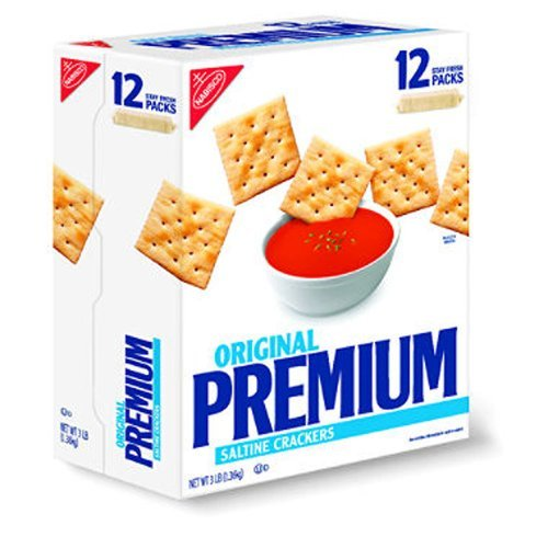 SCS Nabisco Premium Saltine Crackers - 3 Lb. Box