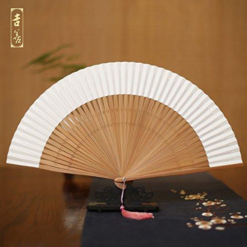 GUYOUYY pieghevole ventilatore 15,2 cm Blank fan Calligraphy Paper ventola taglia piccola carta bianca da donna ventola ventola di scrittura 7.8 Inch Blank Fan
